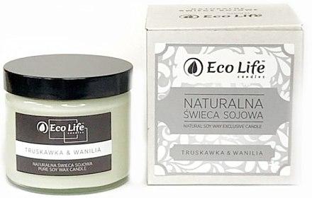 Soja-Duftkerze Strawberry & Vanilla - Eco Life Soy Wax Candles — Bild N1