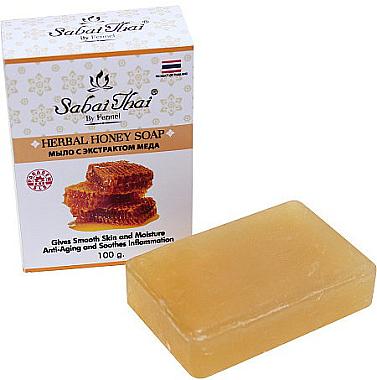 Honig Peelingseife - Sabai Thai Herbal Honey Soap — Bild N1