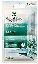 Düfte, Parfümerie und Kosmetik Feuchtigkeitsspendende Gesichtsmaske mit Aloe für alle Hauttypen - Farmona Herbal Care