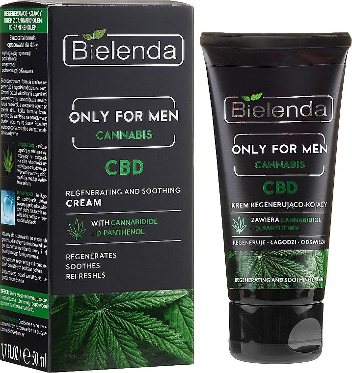 Regenerierende und beruhigende Gesichtscreme mit Cannabidiol und D-Panthenol - Bielenda Only For Men Regenerating And Soothing Cream — Bild N1