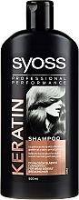 Düfte, Parfümerie und Kosmetik Keratin Shampoo für schwaches und brüchiges Haar - Syoss Keratin Hair Perfection