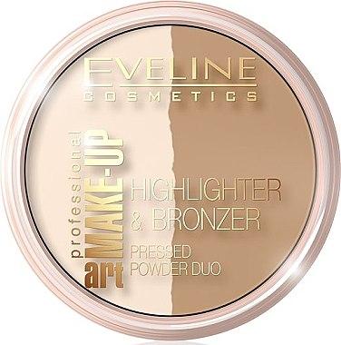 Duo Bronzing Gesichtspuder - Eveline Cosmetics Art. Professional Make-Up Glam — Bild N1