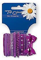 Haargummis lila 12 St. 22036 - Top Choice — Bild N1