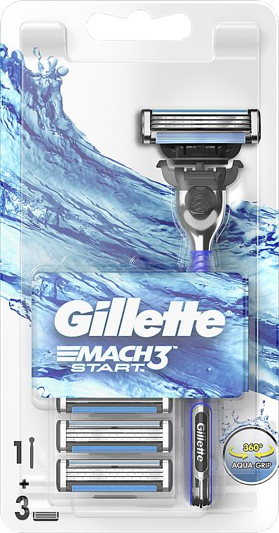 Mach 3 Start Rasierer mit 3 Rasierklingen - Gillette Mach 3 Start