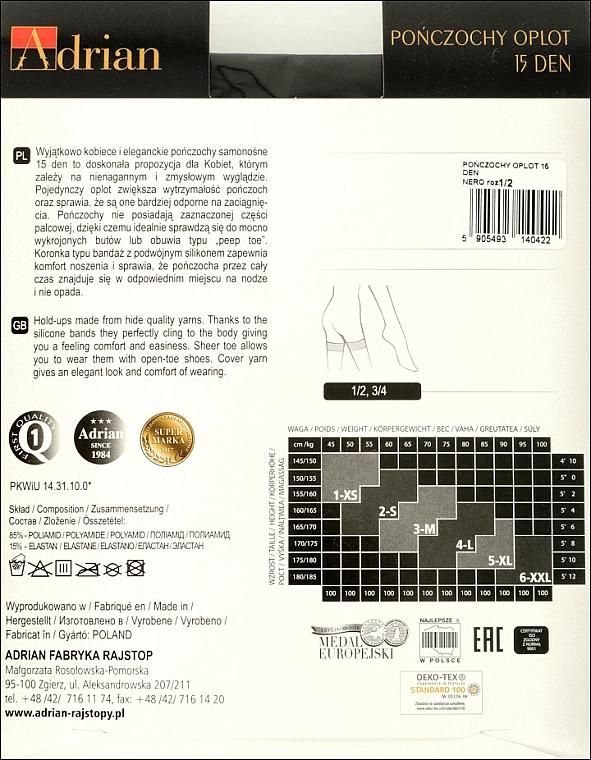 Lange Damenstrümpfe Oplot 15 Den Nero - Adrian — Bild N2
