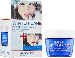 Düfte, Parfümerie und Kosmetik Schützende Wintercreme für das Gesicht mit Vitamin E, Panthenol und süßem Mandelöl - Floslek Winter Care Protective Cream