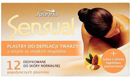 Enthaarungswachsstreifen für das Gesicht mit Mandelöl - Joanna Sensual Depilatory Face Strips — Bild N1