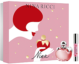 Düfte, Parfümerie und Kosmetik Nina Ricci Nina - Duftset (Eau de Toilette 80ml + Lippenstift)