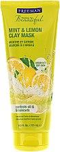 Düfte, Parfümerie und Kosmetik Gesichtsmaske mit Zitrone und Minze - Freeman Feeling Beautiful Clay Mask Mint & Lemon