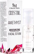 Düfte, Parfümerie und Kosmetik Anti-Aging Gesichtsserum Amethyst - Hristina Cosmetics SM Crystal Amethyst Moisturizing Face Serum