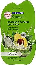 Düfte, Parfümerie und Kosmetik Tiefenreinigende Gesichtsmaske mit Avocado und Haferflocken - Freeman Feeling Clay Mask Avocado & Oatmeal