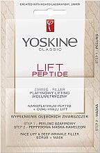 Düfte, Parfümerie und Kosmetik Zweistufige Gesichtsmaske - Lift Peptide Face Lift and Deep Wrinkle Filler Face Scrub + Mask