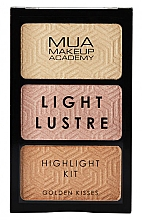 Düfte, Parfümerie und Kosmetik Highlighter-Palette - MUA Light Lustre Trio Highlight