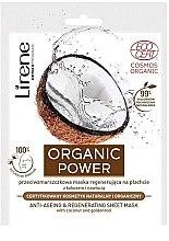 Düfte, Parfümerie und Kosmetik Regenerierende Anti-Aging Tuchmaske mit Kokosnuss und Goldrute - Lirene Organic Power Anti-Ageing Regenerating Sheet Mask