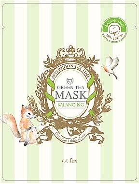 Ausgleichende Tuchmaske mit grünem Tee - A:t fox Balancing Green Tea Mask — Bild N1