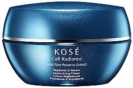 Düfte, Parfümerie und Kosmetik Regenerierende und feuchtigkeitsspendende Gesichtscreme mit Reispulver-Extrakt - Kose Cell Radiance Cream Rice Power Extract