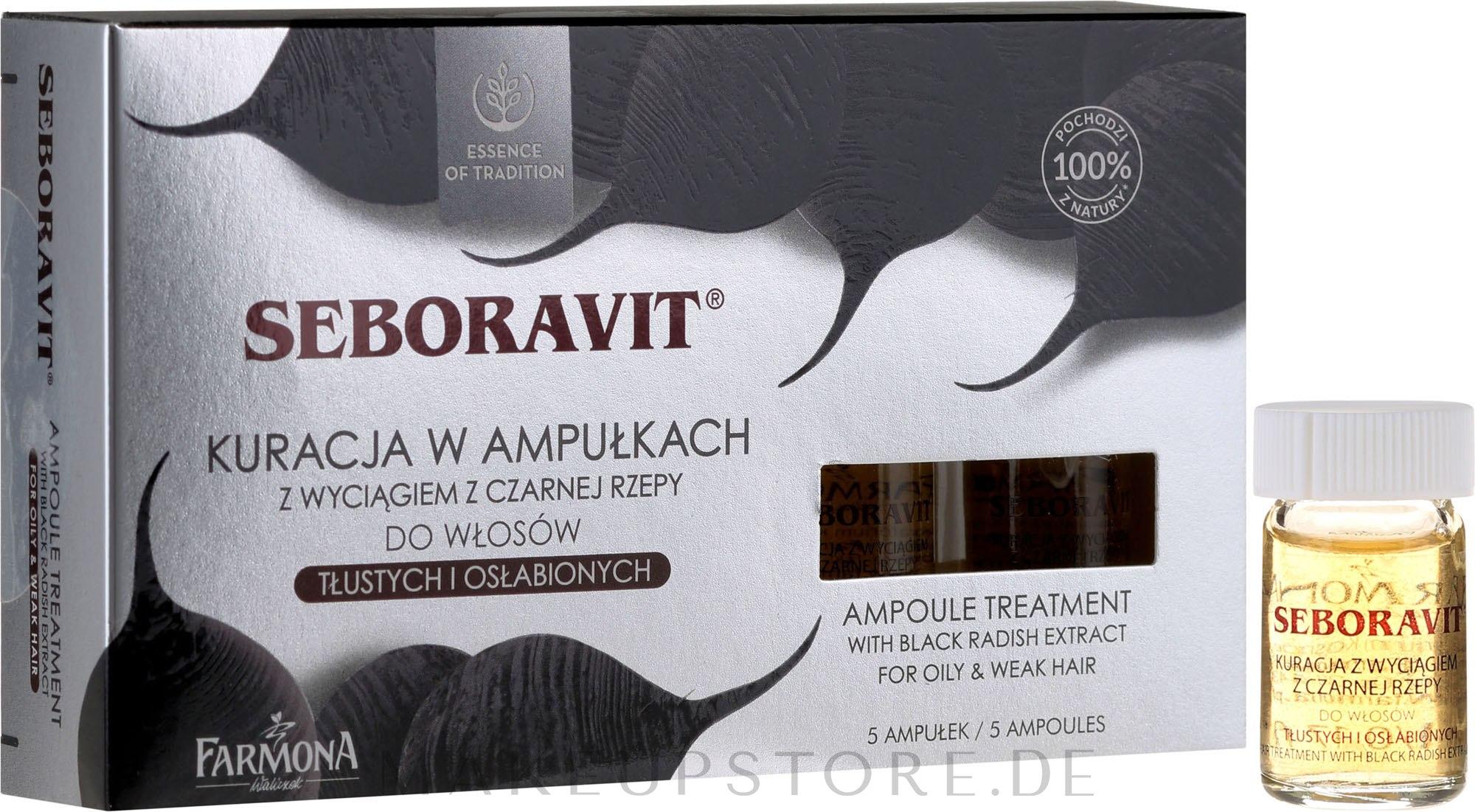 Kopfhaut Komplex mit Extrakten aus schwarzem Rettich - Farmona Seboravit  — Bild 5x5 ml