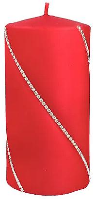 Dekorative Kerze rot 7x10 cm - Artman Bolero — Bild N1
