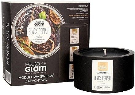 Soja-Duftkerze Black Pepper & Coffee - House of Glam Black Pepper & Coffee Candle — Bild N1