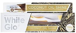 Düfte, Parfümerie und Kosmetik Zahnpflegeset - White Glo Coconut Oil Shine (Zahnpasta 120ml + Zahnbürste)