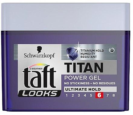 "Haargel ""Titan"" ultimativ straker Halt für Männer - Schwarzkopf Taft Looks Titan Power Gel Ultimate Hold — Bild N1"