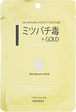 Düfte, Parfümerie und Kosmetik Tuchmaske für das Gesicht mit Bienengift - Mitomo Essence Sheet Mask Bee Venom + Gold