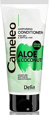 Feuchtigkeitsspendende Haarspülung für trockenes und sprödes Haar mit Aloe und Kokosnuss - Delia Cameleo Aloe And Coconut Moisturizing Conditioner — Bild N1