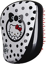 Düfte, Parfümerie und Kosmetik Kompakte Haarbürste - Tangle Teezer Compact Styler Hello Kitty Black Brush