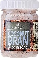 Düfte, Parfümerie und Kosmetik Gesichtspeeling mit Kokosraspeln - Hristina Cosmetics Coconut Bran Face Peeling