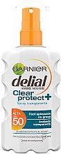 Düfte, Parfümerie und Kosmetik Sonnenschutzspray für den Körper SPF 50 - Garnier Ambre Solaire Clear Protect Sun Cream Spray SPF50