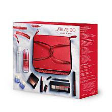 Düfte, Parfümerie und Kosmetik Make-up Set - Shiseido Christmas Blockbuster Beauty Essentials (Gesichtskonzentrat 50ml + Augen- und Lippen-Make-up-Entferner 125ml + Gesichtscreme 15ml + Gesichtscreme für die Nacht 15ml + Mascara 11.5ml + Lidschatten-Palette 5.2g + Eyeliner 0.4ml + Gesi