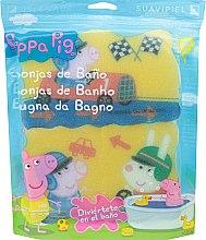 Düfte, Parfümerie und Kosmetik Kinder-Badeschwamm-Set Peppa Pig 3 St. Rennen - Suavipiel Peppa Pig Bath Sponge