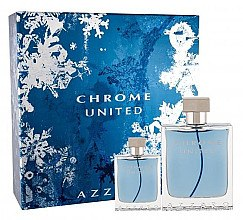 Düfte, Parfümerie und Kosmetik Azzaro Chrome United - Duftset (Eau de Toilette/100ml+Eau de Toilette/30ml)
