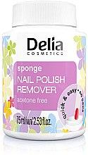 Düfte, Parfümerie und Kosmetik Nagellackentferner mit Schwamm - Delia Sponge Nail Polish Remover Acetone Free