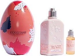 Düfte, Parfümerie und Kosmetik L'Occitane Cherry Blossom Easter Egg Gift Set - Körperpflegeset (Duschgel 35ml + Körperlotion 250ml)