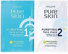Düfte, Parfümerie und Kosmetik 2in1 Gesichtspeeling und Gesichtsreinigungsmaske mit Salicylsäure und Granatapfelextrakt - Oriflame Pure Skin Face Scrub & Mask