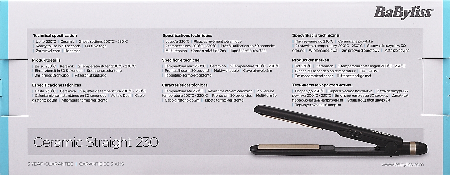 Haarglätter - BaByliss Ceramic Straight 230 ST089E — Bild N3