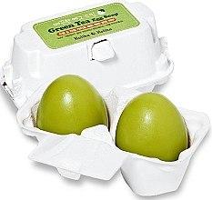Kosmetische Seife zum Entfernen von Make-up mit grünem Tee - Holika Holika Green Tea Egg Soap  — Bild N1