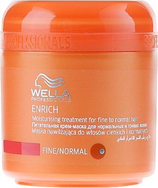 Pflegende und feuchtigkeitsspendende Maske für dünnes und normales Haar - Wella Professionals Enrich Moisturizing Treatment — Bild N1