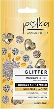 Düfte, Parfümerie und Kosmetik Feuchtigkeitsspendende Peel-Off Maske mit Bernstein - Polka Glitter Peel Off Mask Amber