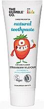 Düfte, Parfümerie und Kosmetik Natürliche Kinderzahnpasta mit Erdbeergeschmack - The Humble Co. Natural Toothpaste Kids Strawberry Flavor