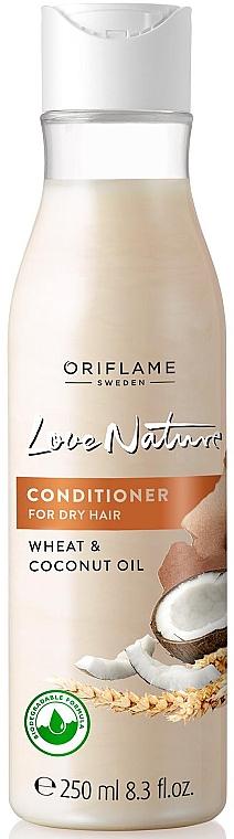 Haarspülung für sehr trockenes Haar mit Weizen und Kokosöl - Oriflame Love Nature Wheat & Coconut Oil Conditioner — Bild N1