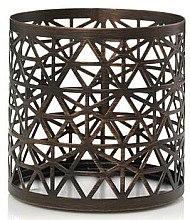Düfte, Parfümerie und Kosmetik Kerzenhalter für Duftkerze im Glas - Yankee Candle Belmont Bronze Punched Metal