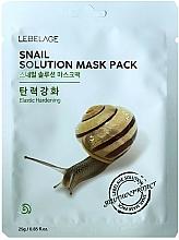 Düfte, Parfümerie und Kosmetik Tuchmaske mit Schneckensekret - Lebelage Snail Solution Mask