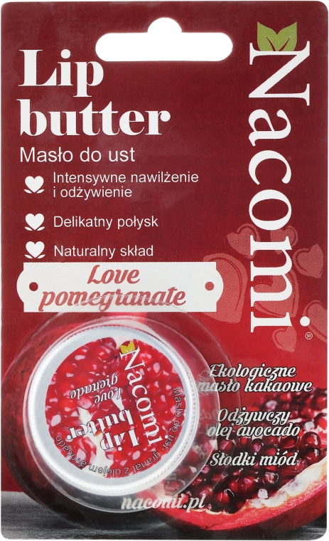 Natürlicher Lippenbalsam Granatapfel - Nacomi Lip Butter