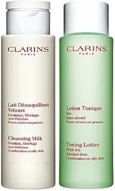 Set - Clarins Combination/Oily Skin Cleansing Kit (milk/200ml + lot/200ml) — Bild N2