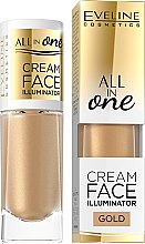 Düfte, Parfümerie und Kosmetik Cremiger Highlighter für das Gesicht - Eveline Cosmetics All In One Cream Face Illuminator