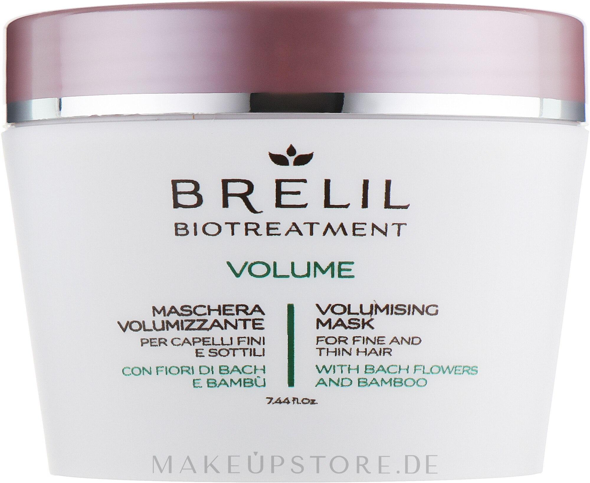 Haarmaske für mehr Volumen mit Bach-Blüten und Bambus - Brelil Bio Treatment Volume Hair Mask — Bild 220 ml
