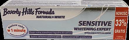 Aufhellende Zahnpasta für empfindliche Zähne Sensitive - Beverly Hills Natural White Sensitive — Bild N1
