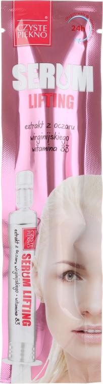 Liftingserum mit Hyaluronsäure, Vitamin B3 und Zaubernuss-Extrakt - Czyste Piekno Serum Lifting
